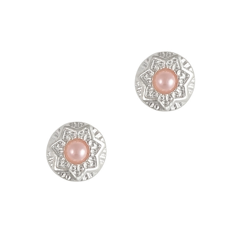 Nail Art Charm Decorative Round Pink Pearl Jewelry