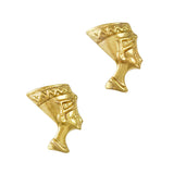 Egyptian Queen Nefertiti GoldNail Art Supply Charm Jewelry 3D Decor
