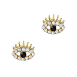 The Eye GoldNail Art Supply Charm Jewelry 3D Decor