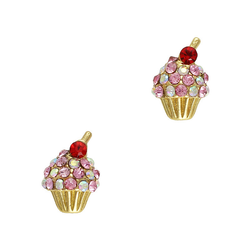 Cherry Top Cupcake Nail Jewelry