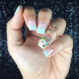 Crystal Floral Cluster Pretty Nail Gems
