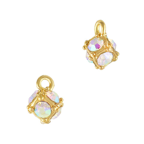 Crystal Ball Dangle AB Crystal Cute Nail Decor