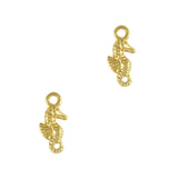Seahorse Dangle Gold Spring Nail Art
