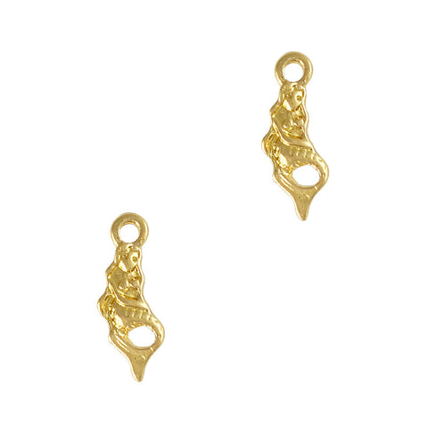 Mermaid Dangle Gold Nail Dangles