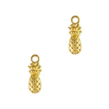 Pineapple Dangle Gold 3D Nail Art