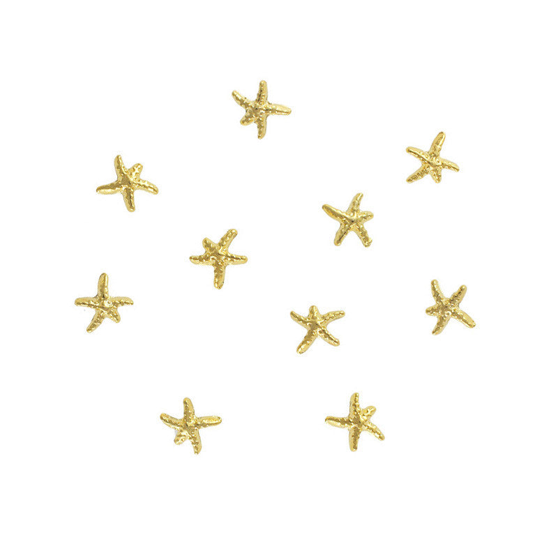 Starfish Nail Charms Studs Decor 3D Decoration
