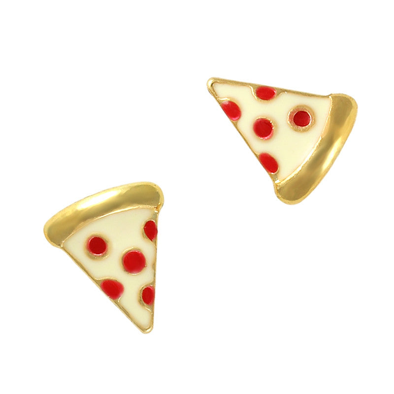 Pizza Emoji Nail Jewelry Fun Food