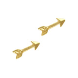 Gold Arrow Cute Charm Nail Art Supply