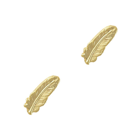 Japanese Style Nail Art Gold Feather Charm