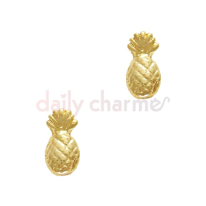 Nail Art Charm Jewelry Decor Summer Pineapple / Gold