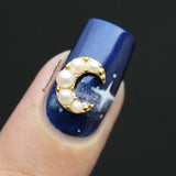 Pearly Moon Pretty Nail Jewelry Charm 3D Moon Sky Nail Art
