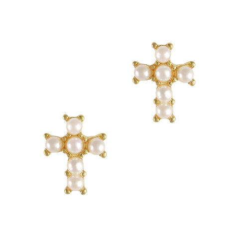 Gold Pearl Cross Nail Art Supply Pretty