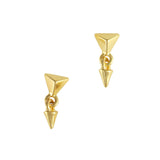 Fashion Gold Pyramid Stud Dangle Nail Art Supply Cool Charm