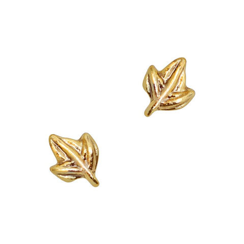 Nail Art Charm Maple Leaf / Gold