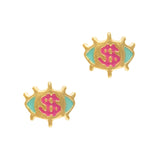 Dollar Sign Eyes Colorful Nail Jewelry Hip Pop