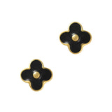 Marc Daisy Black Flower Cute Nail Charm
