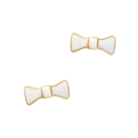 Nail Charm Dainty Bow Tie / White