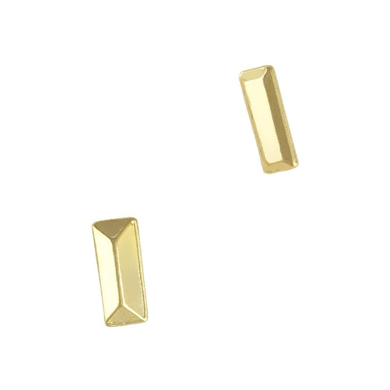 Metallic Pointed Rectangle Gem / Gold Bar Nail Art 3D Charms