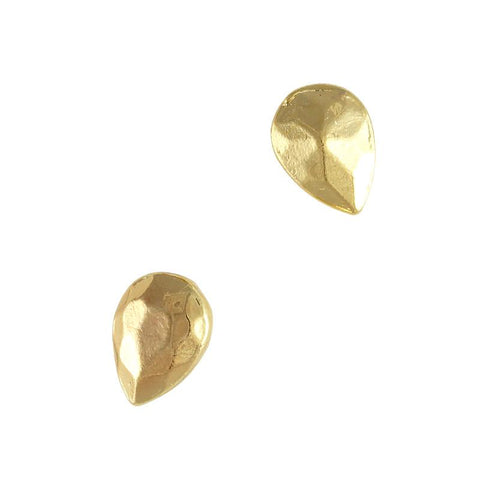 Metallic Pointed Pear Gem / Gold Nail Art 3D Charms