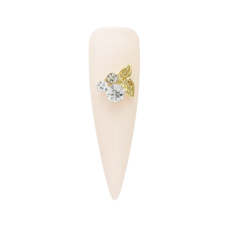 Dainty Garden Cluster Clear Crystal Spring Nail Charm
