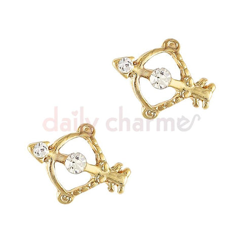 Valentine's Day Nail Charm Jewel Cupid's Bow / Gold