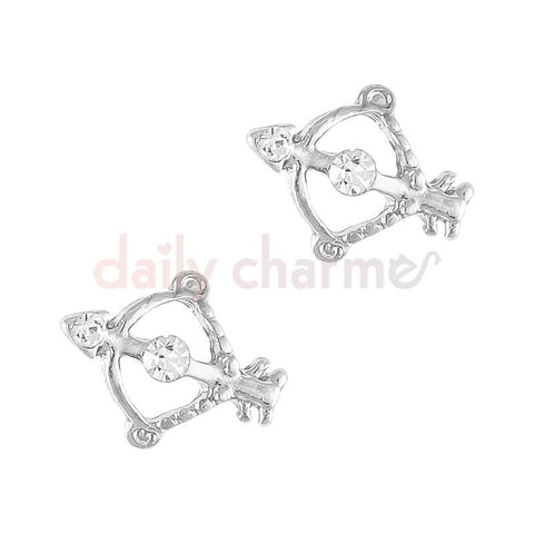 Valentine's Day Nail Charm Jewel Cupid's Bow / Silver