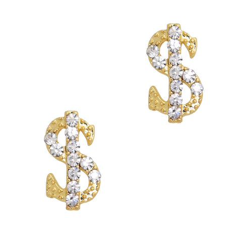 Bling Money Sign / Gold / Large Nail Charm