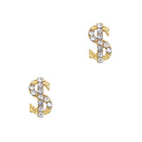 Bling Money Sign / Gold / Small Nail Charm