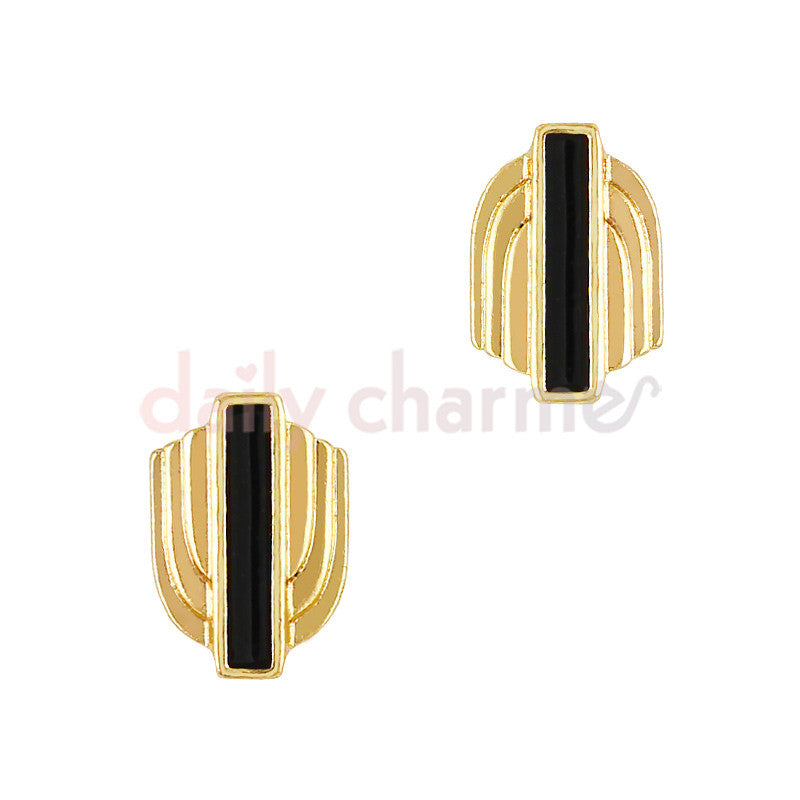 Art Deco Armor / Gold Nail Charm Design Pattern Geometric