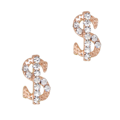 Bling Money Sign / Rose Gold / Large Nail Charm
