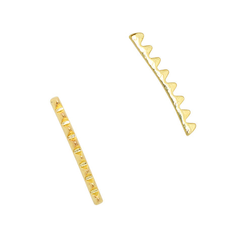 Long Spiky Studs Bar / Gold Nail Charm