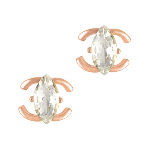 Daily Charme Nail Supply Nail Charms Marquise Gem Coco / Rose Gold