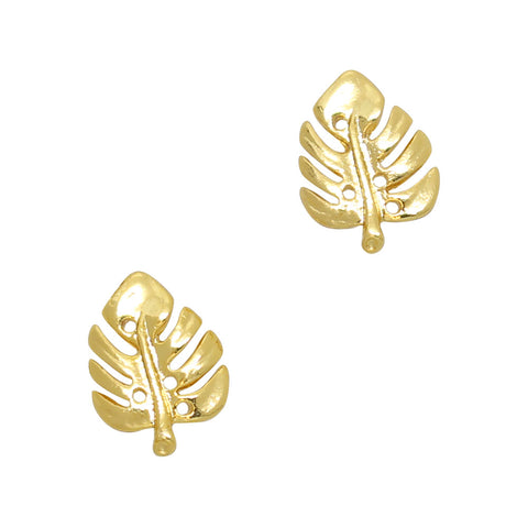 Gold Monstera Leaf Nail Charms Jewelry for Nail Art