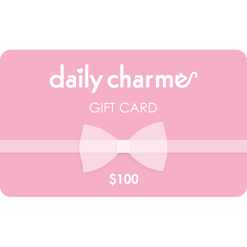 Daily Charme Gift Card $10 $25 $50 $100 Value - Nail Art Supply Charms Jewelry