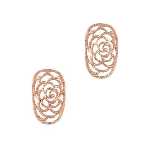 Daily Charme Nail Art Supply 3D Nail Charms Ornate Rose Armor / Rose Gold