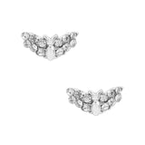 Daily Charm Halloween Nail Charms Nail Jewelry Decoration Bat / Silver