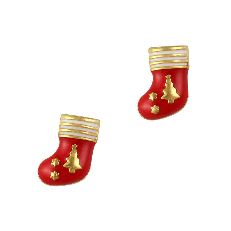 Christmas Nail Art Charm Christmas Stockings Rhinestone Crystal Jewelry