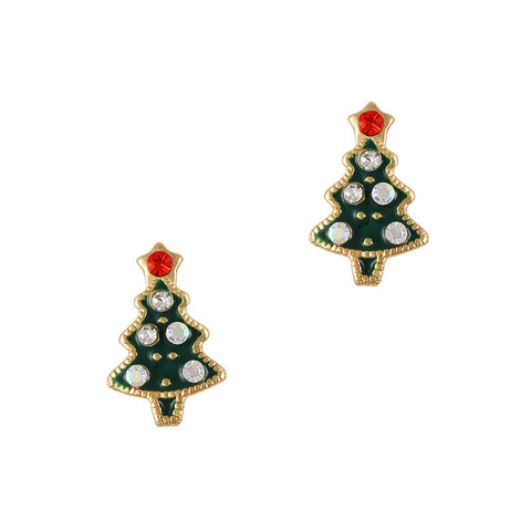 Christmas Nail Art Charm Gold Christmas Tree No.  Rhinestone Crystal Jewelry