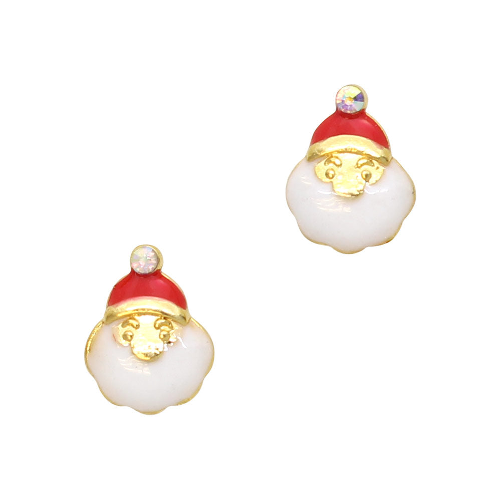 Chubby Little Santa Christmas Holiday Nail Art Charms