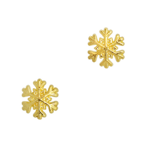 Mini Snowflake No.2 / Gold Holiday Nail Art Charms
