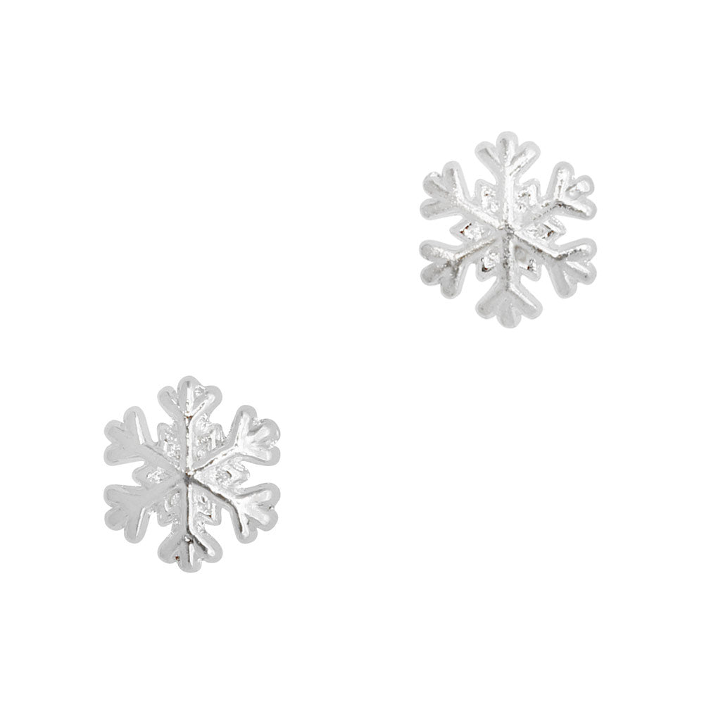 Mini Snowflake No.2 / Silver Holiday Nail Art Charm