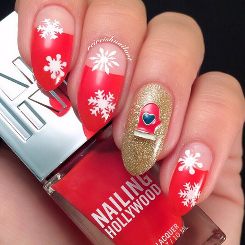 Christmas Nail Art Supply Lovely Wintry Mitten