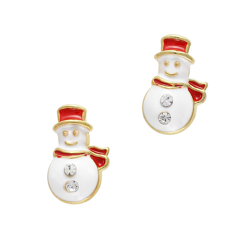 Cute Snowman Christmas Holiday Nail Art Charm