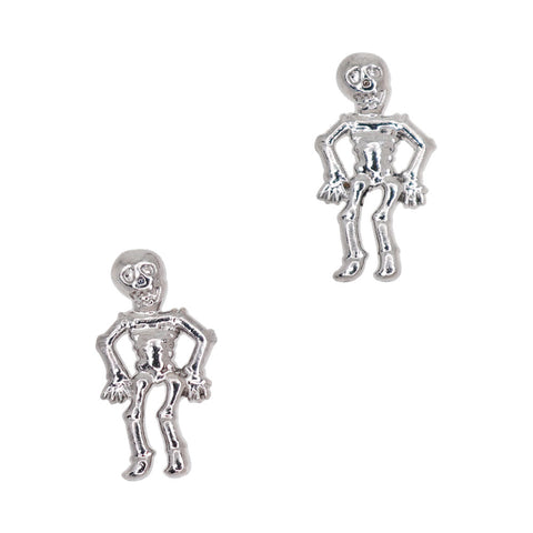 Mr. Skeleton / Silver Halloween Nail Charms Decor