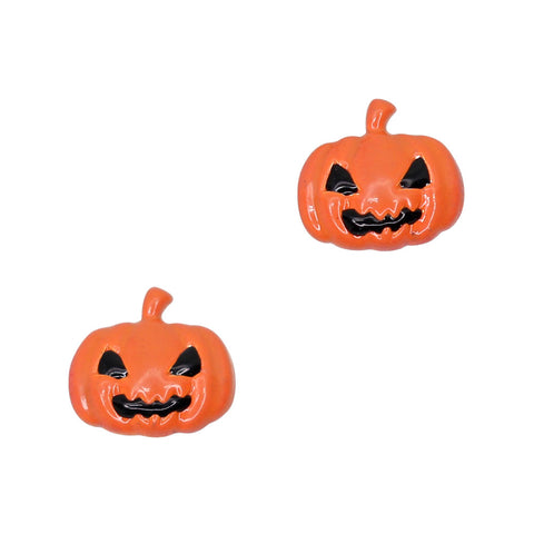 Spooky Pumpkin / Orange Halloween Nail Charms Decor Art Supply