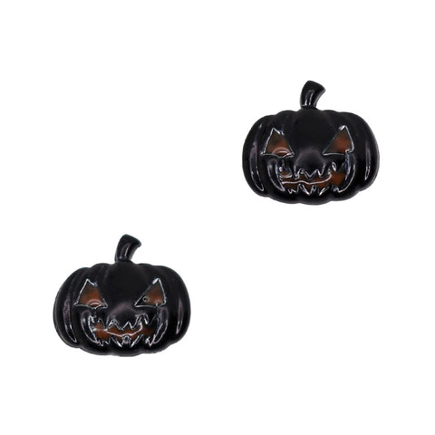 Spooky Pumpkin / Black Halloween Nail Charms Decor Art Supply