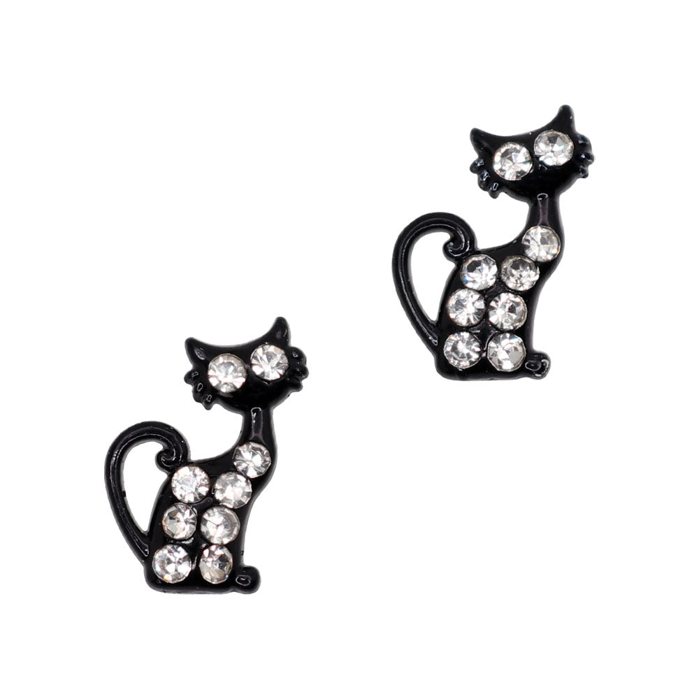 Black Cat Halloween Nail Charms Decor Art Supply