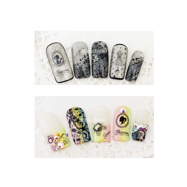 Daily Charme Nail Art Decal Sticker Decal - Princess & Lace
