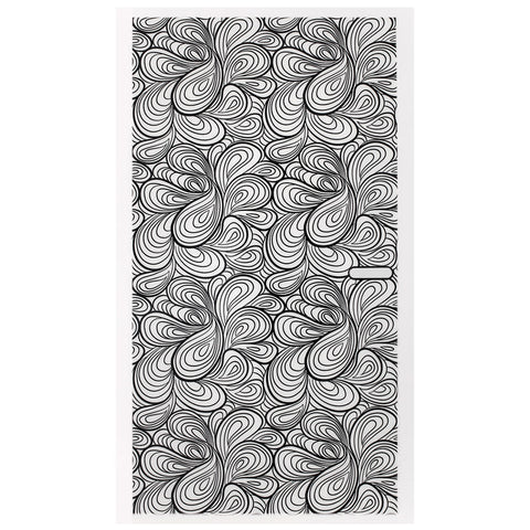 Daily Charme Nail Art Sticker Decal - Swirly Pattern / Black