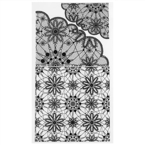 Daily Charme Nail Art Decal Sticker Decal - Lace Veil